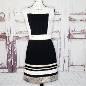 Laundry by Shelli Segal Dress Block black Gold